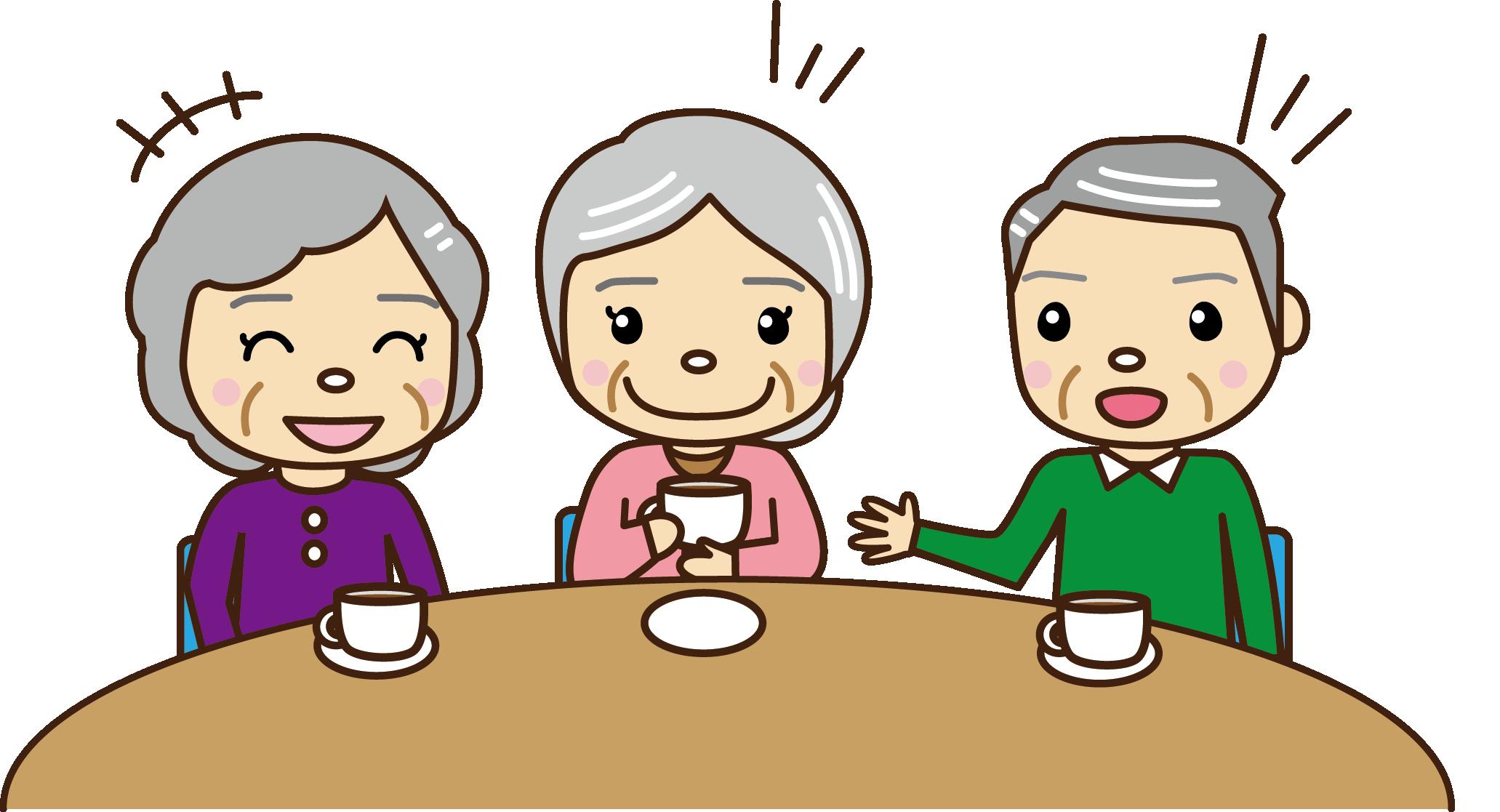 134いきいきサロンお茶会(コーヒー)のイラスト