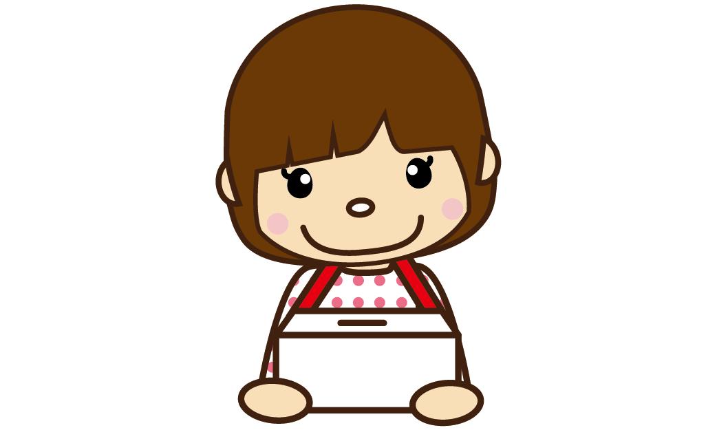 119募金のお願い(女の子)のイラスト
